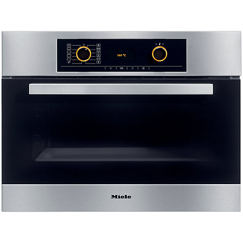 Buy Miele H5061B Compact Single Electric Oven, Stainless Steel Online at johnlewis.com
