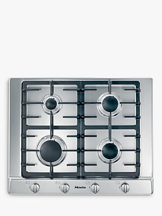 Miele KM2010 Gas Hob, Stainless Steel
