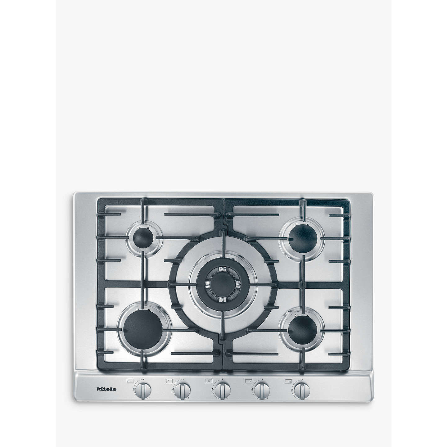 Miele KM2032 Gas Hob, Stainless Steel at John Lewis