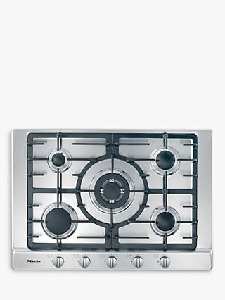 Miele KM2032 60cm Gas Hob, Stainless Steel