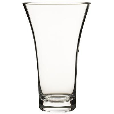 John Lewis Flora Flared Vase, Clear, H26cm