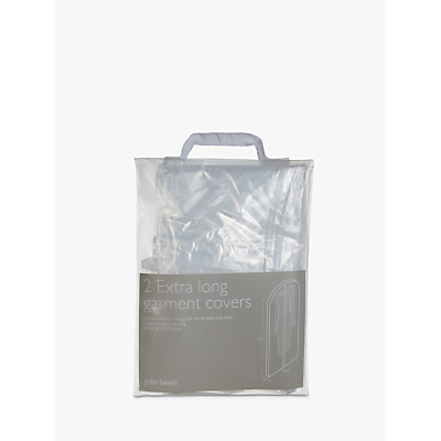 John Lewis & Partners Transparent Extra Long Clothes Covers, Pack of 2