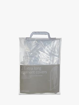John Lewis & Partners Translucent Extra Long Garment Covers, Pack of 2
