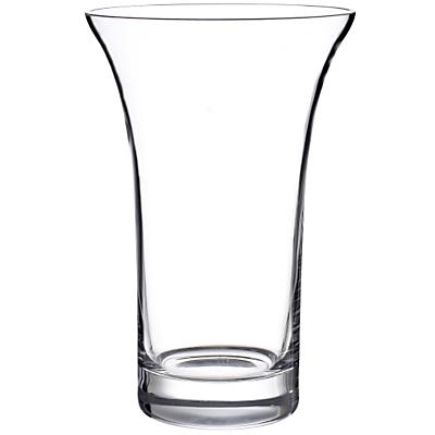 John Lewis Flora Flared Vase, Clear, H22cm