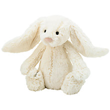 Buy Jellycat Bashful Bunny Soft Toy, Small, Cream Online at johnlewis.com
