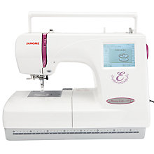 Buy Janome Memory Craft 350E Embroidery Machine Online at johnlewis.com