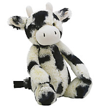 Buy Jellycat Bashful Cow Soft Toy, Medium, Black/White Online at johnlewis.com