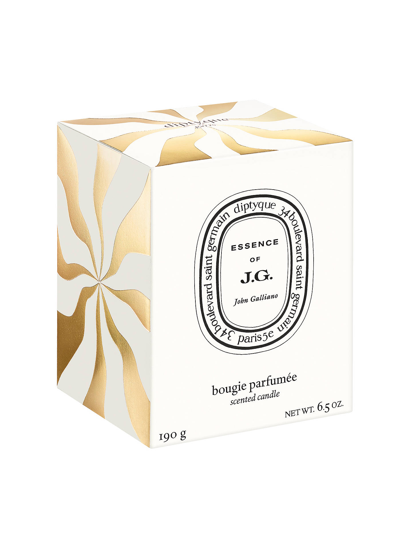 Diptyque John Galliano Candle 190g in gold wrapping new in box