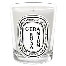 Buy Diptyque Geranium Rosa Scented Candle, 190g Online at johnlewis.com