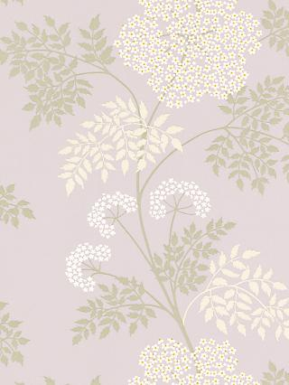 Sanderson Cow Parsley Wallpaper, DOPWCO103, Amethyst