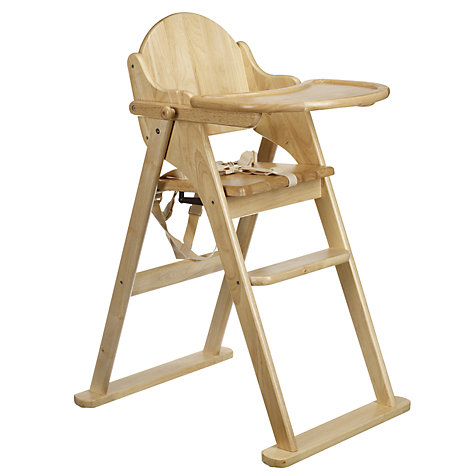 Buy East Coast Folding Wood Highchair John Lewis