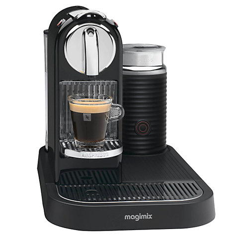 Buy Nespresso M190 CitiZ and Milk Coffee Machine by Magimix, Black Online at johnlewis.com