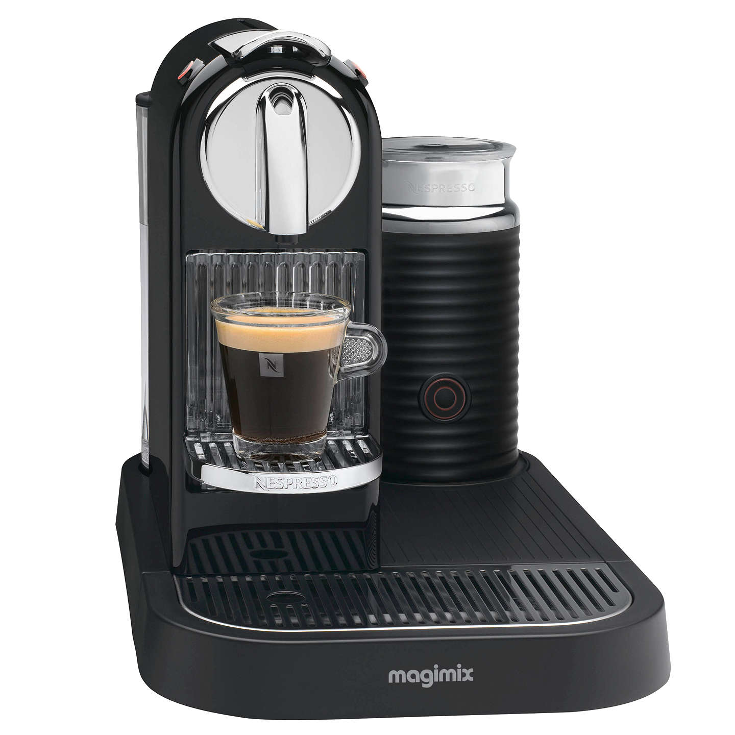 nespresso m190 citiz and milk coffee machine by magimix black at john lewis. Black Bedroom Furniture Sets. Home Design Ideas