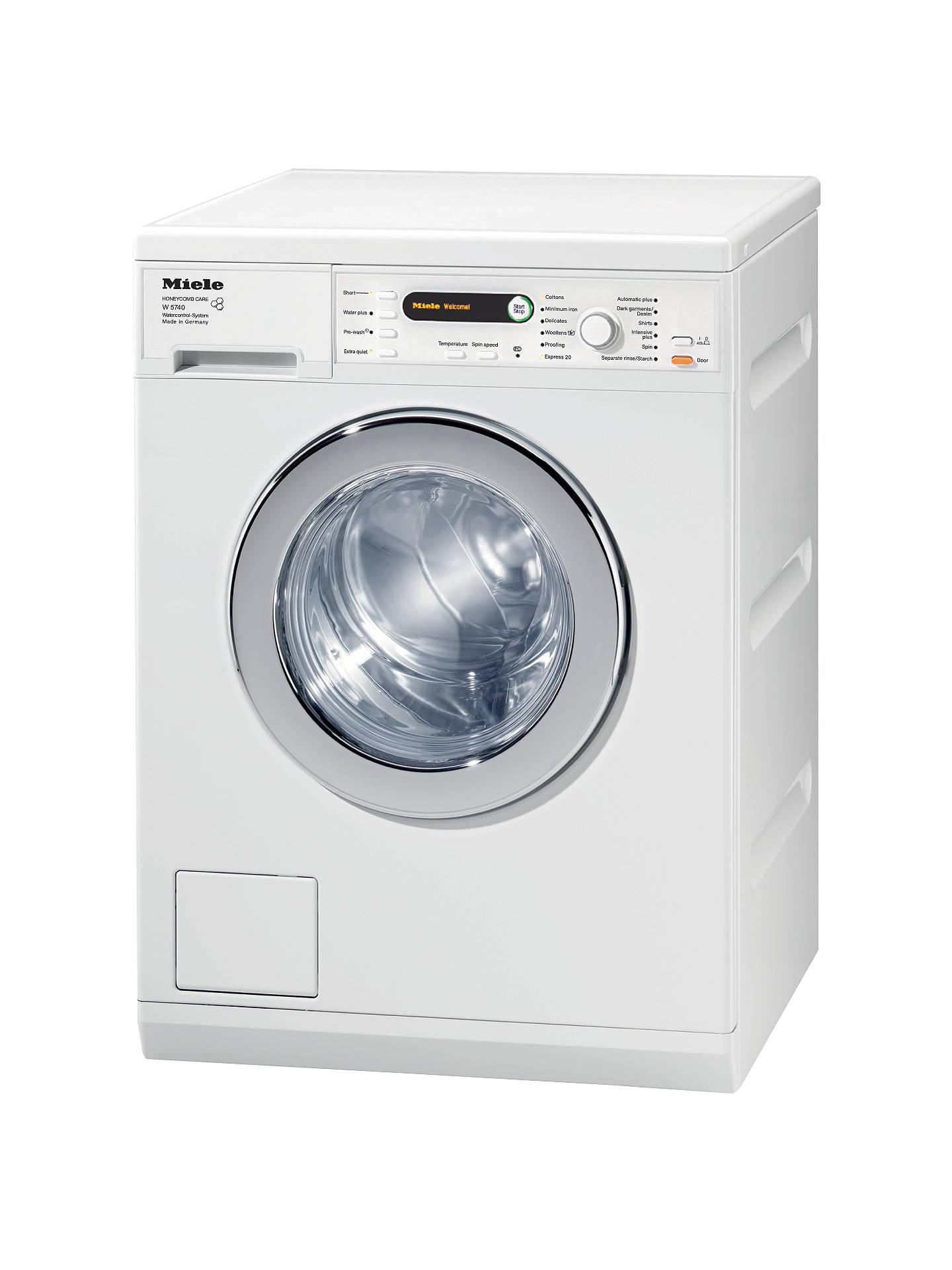 Miele W5740 Washing Machine, 7kg Load, A+++ Energy Rating ...