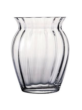 Dartington Crystal Florabundance Barrel Fluted Vase, H18.5cm