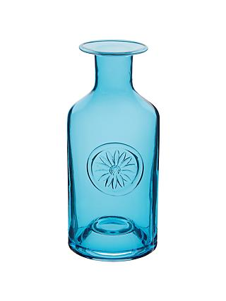 Dartington Crystal Daisy Flower Bottle Vase, Turquoise, H25cm