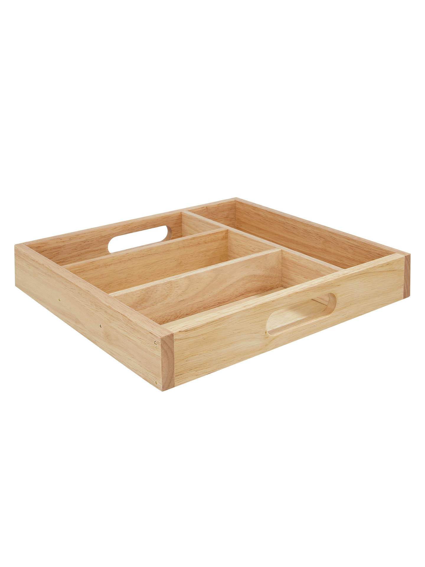 BuyRubberwood Cutlery Tray, 4 Compartments Online at johnlewis.com