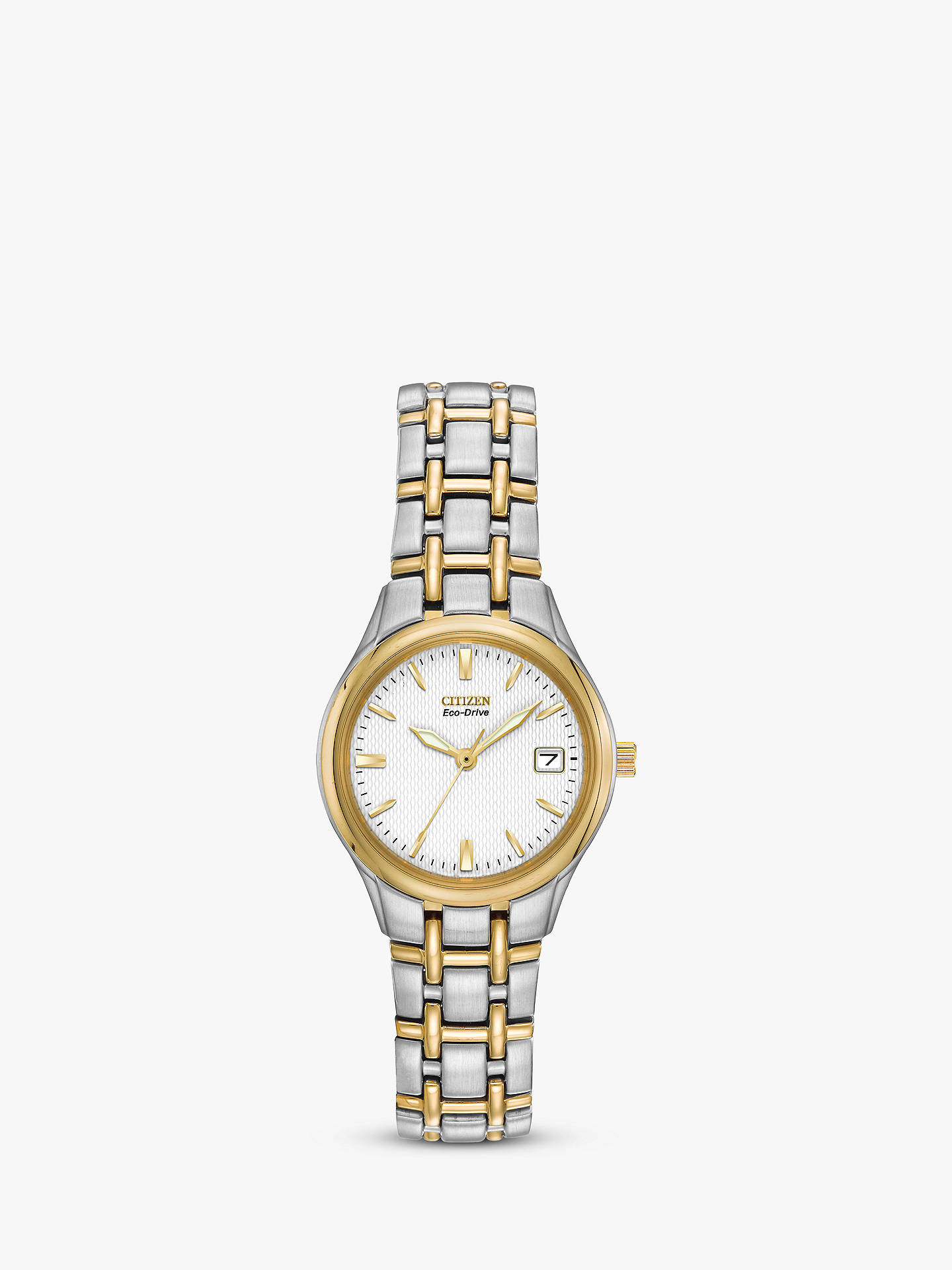 Citizen EW1264-50A Women s Eco-Drive Two Tone Bracelet Strap Watch ... 41f62b0dabb1