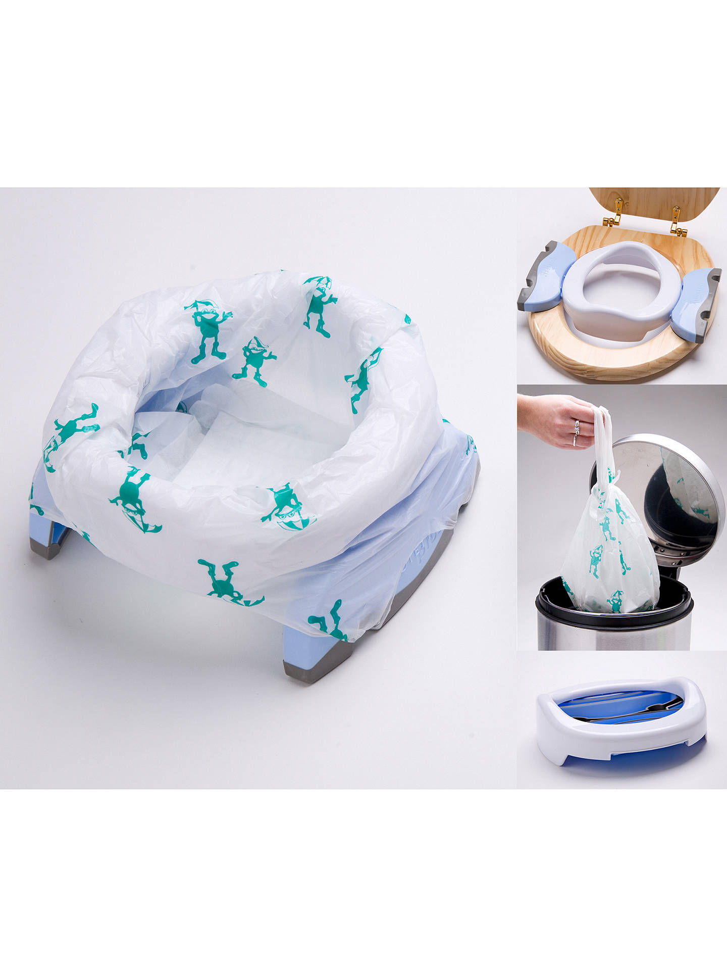 BuyPotette Plus Convertible Travel Potty, White/Blue Online at johnlewis.com