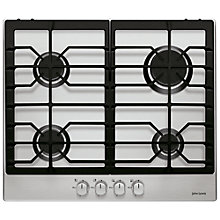 Buy John Lewis JLBIGH602 Gas Hob, Stainless Steel Online at johnlewis.com