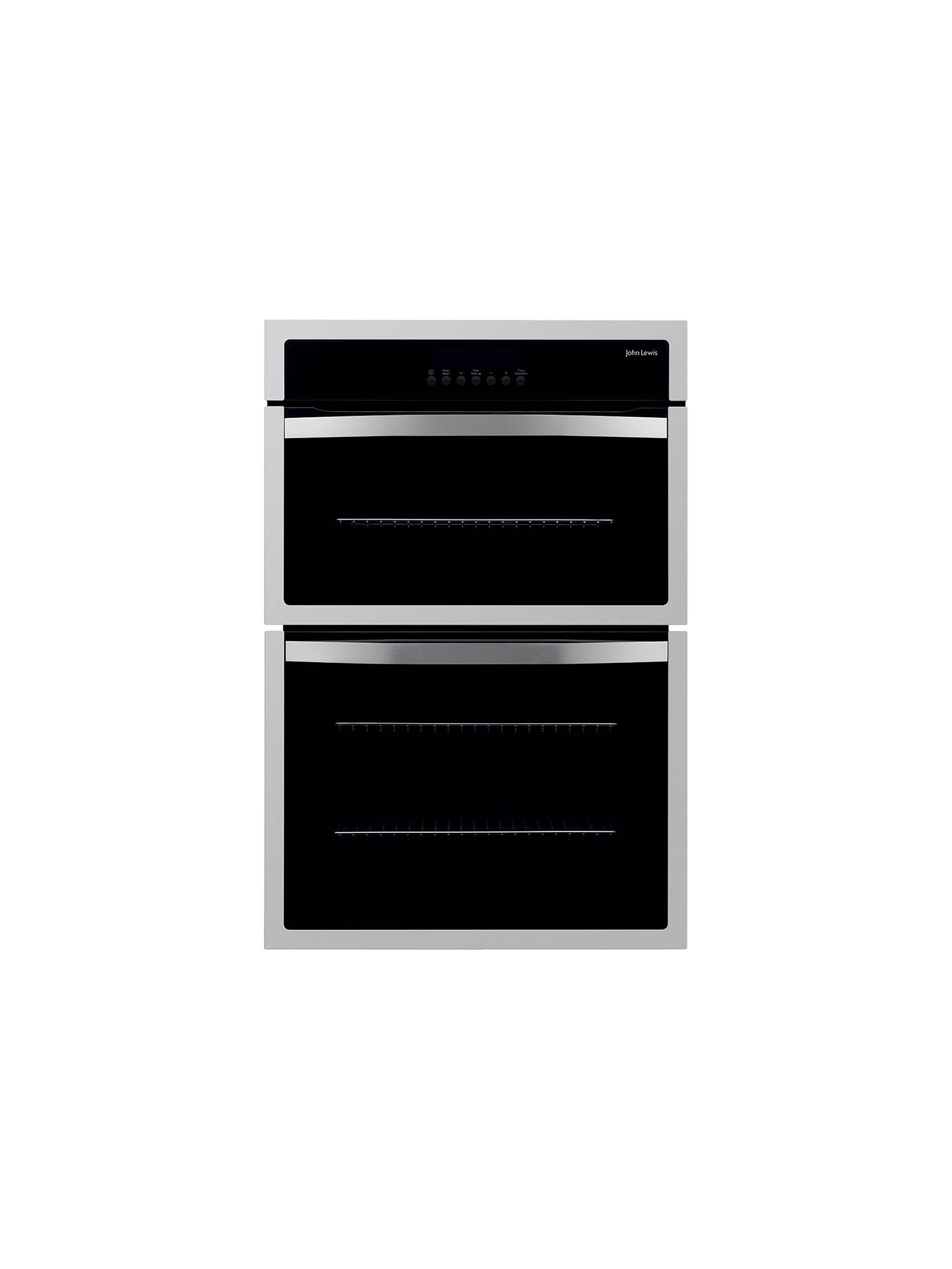 john lewis jlbido913 double electric oven stainless steel. Black Bedroom Furniture Sets. Home Design Ideas