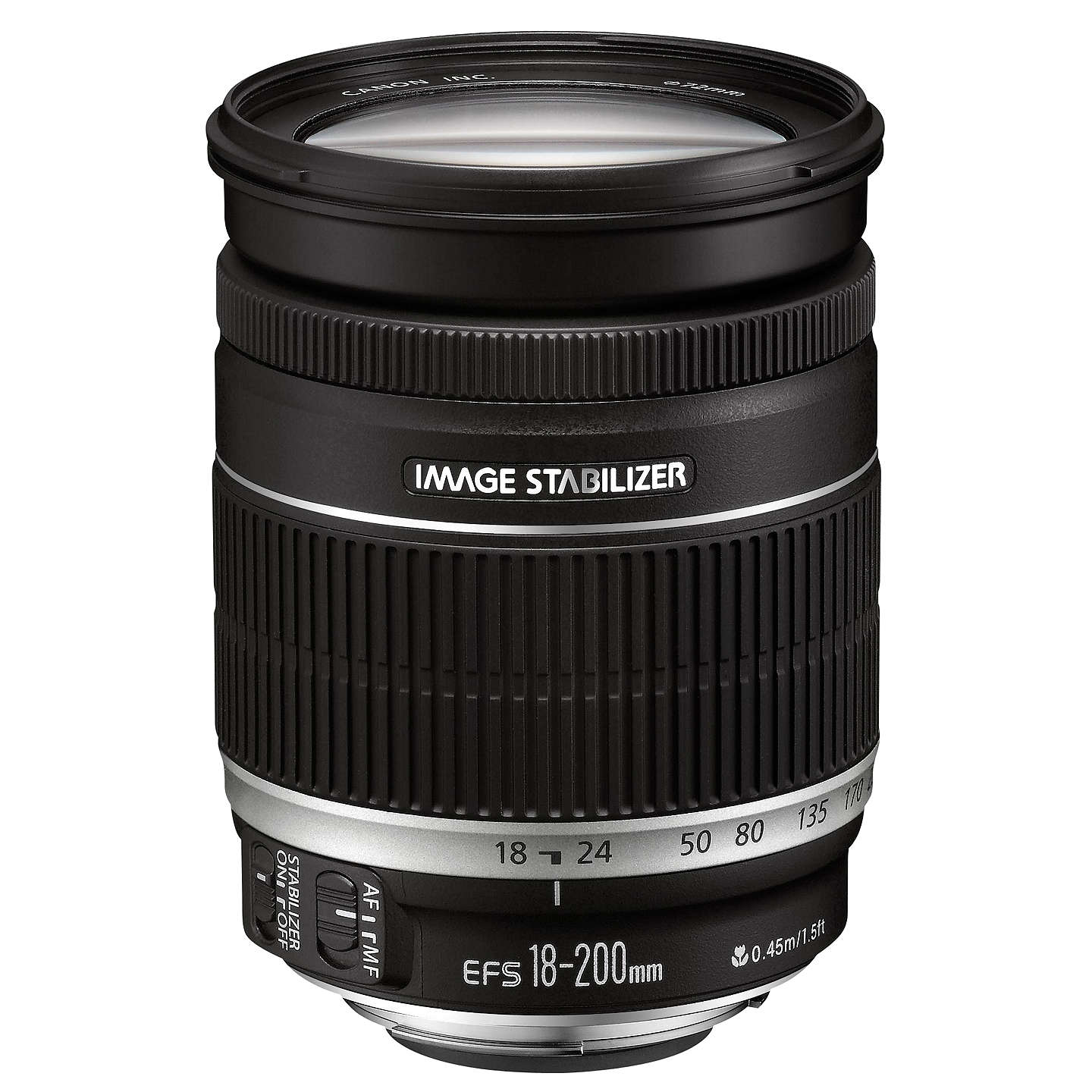 BuyCanon EF-S 18-200mm f/3.5-5.6 IS Telephoto Lens Online at johnlewis.com