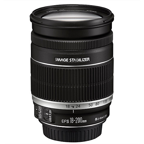 Buy Canon EF-S 18-200mm f/3.5-5.6 IS Telephoto Lens Online at johnlewis.com