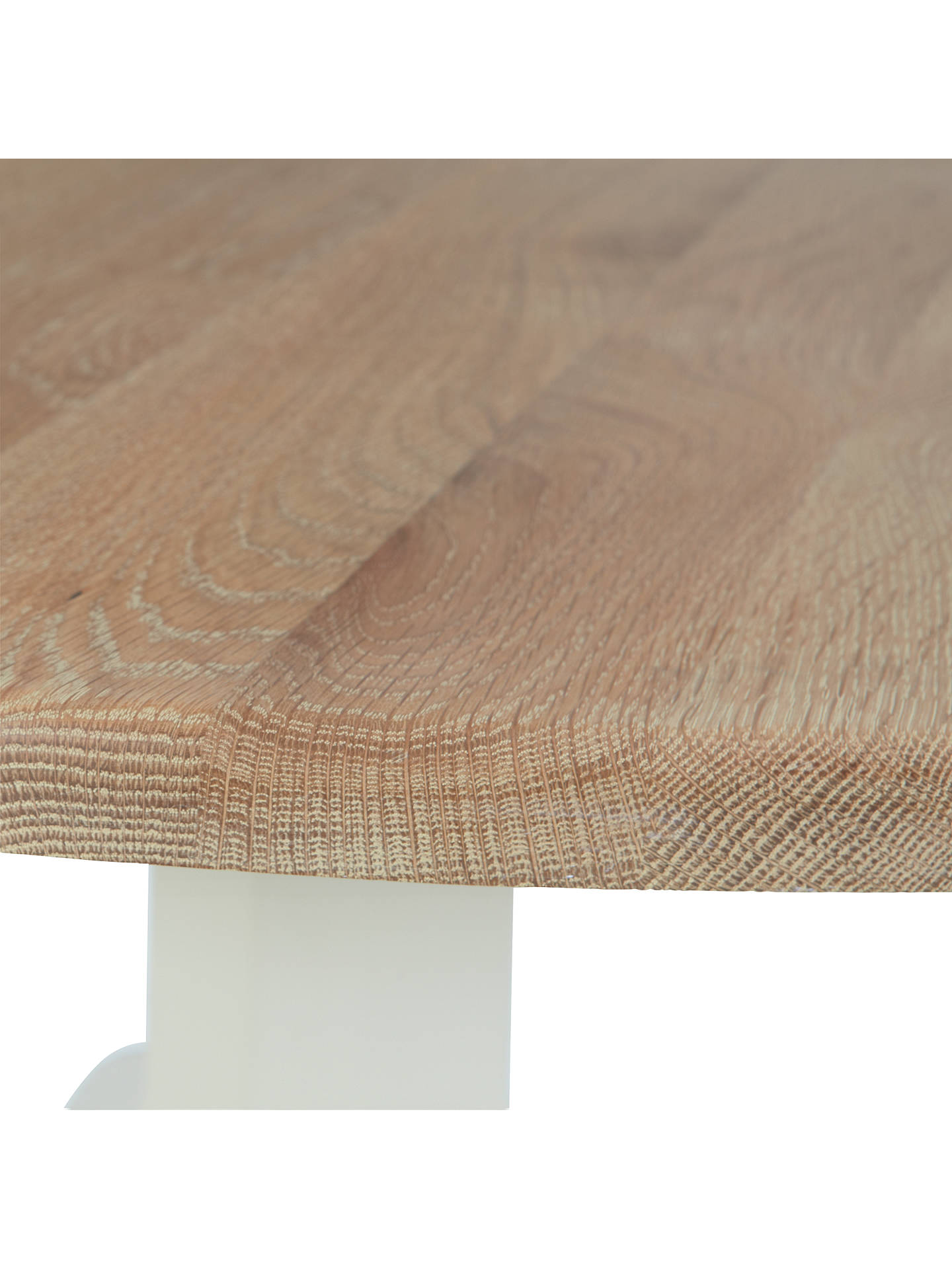 Buy Neptune Chichester 6-Seater Pedestal Oak Dining Table, Limestone Online at johnlewis.com