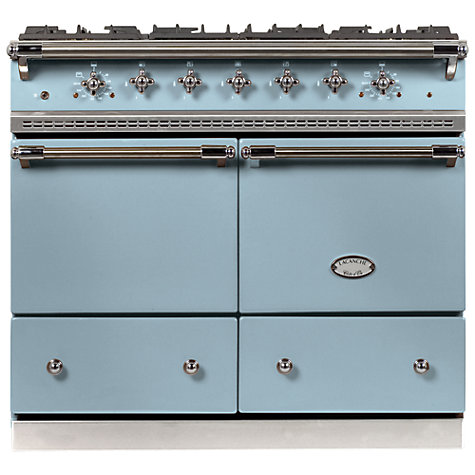 Buy Lacanche Cluny LG1052GCT Dual Fuel Range Cooker, Delft Blue / Chrome Trim Online at johnlewis.com