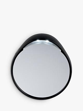 Tweezermate 10x Lighted Mirror, Silver