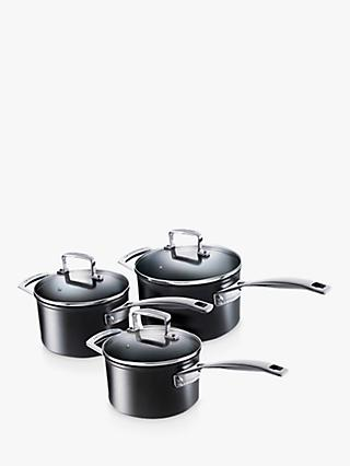 Le Creuset Toughened Non-Stick Saucepan Set, 3 Piece