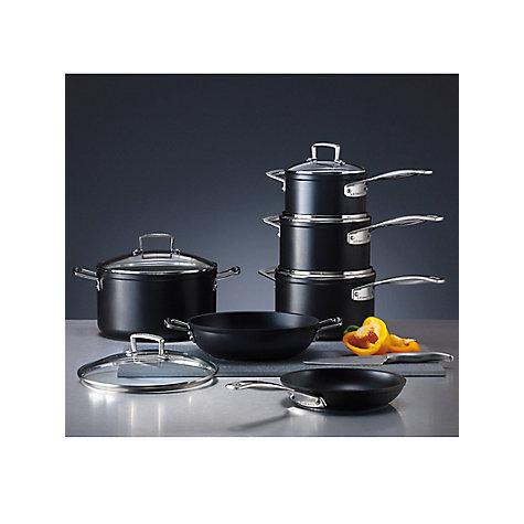 buy le creuset toughened non stick 3 piece saucepan set. Black Bedroom Furniture Sets. Home Design Ideas