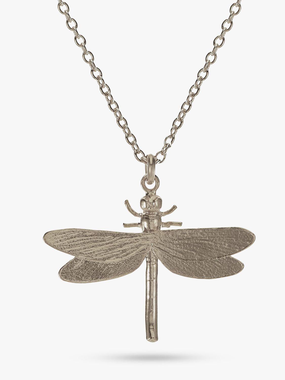 Alex Monroe Alex Monroe Dragonfly Pendant Necklace, Silver