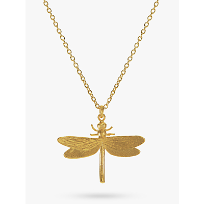 Product photo of Alex monroe dragonfly pendant necklace gold
