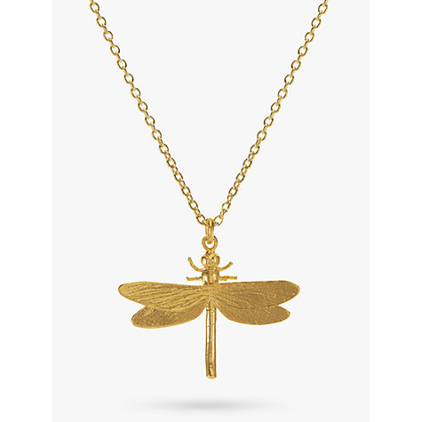 Buy Alex Monroe Dragonfly Pendant Necklace, Gold Online at johnlewis.com