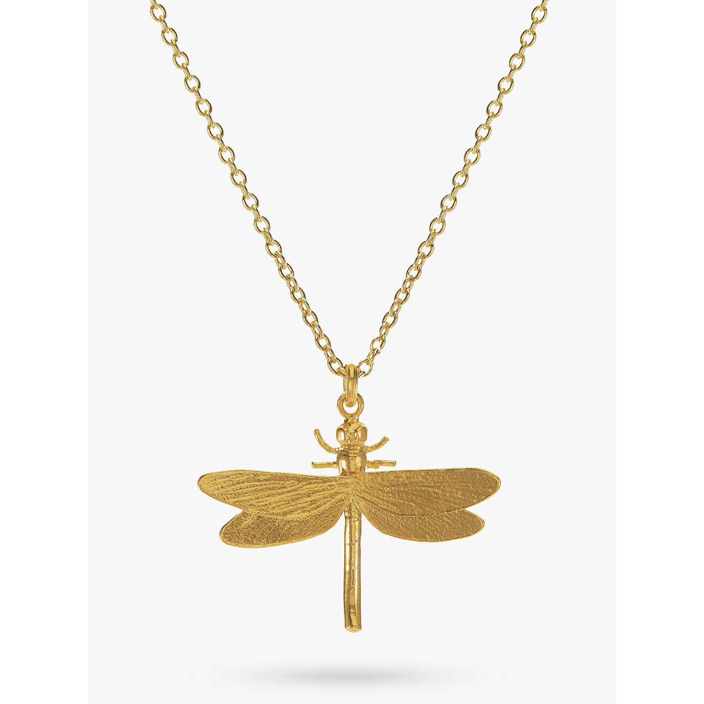 pendant in dragonfly white yellow necklace gold