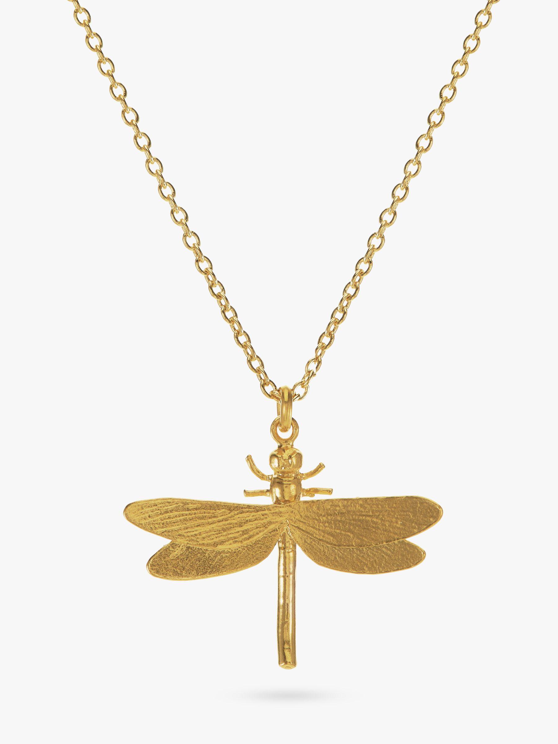 Alex Monroe Alex Monroe Dragonfly Pendant Necklace, Gold