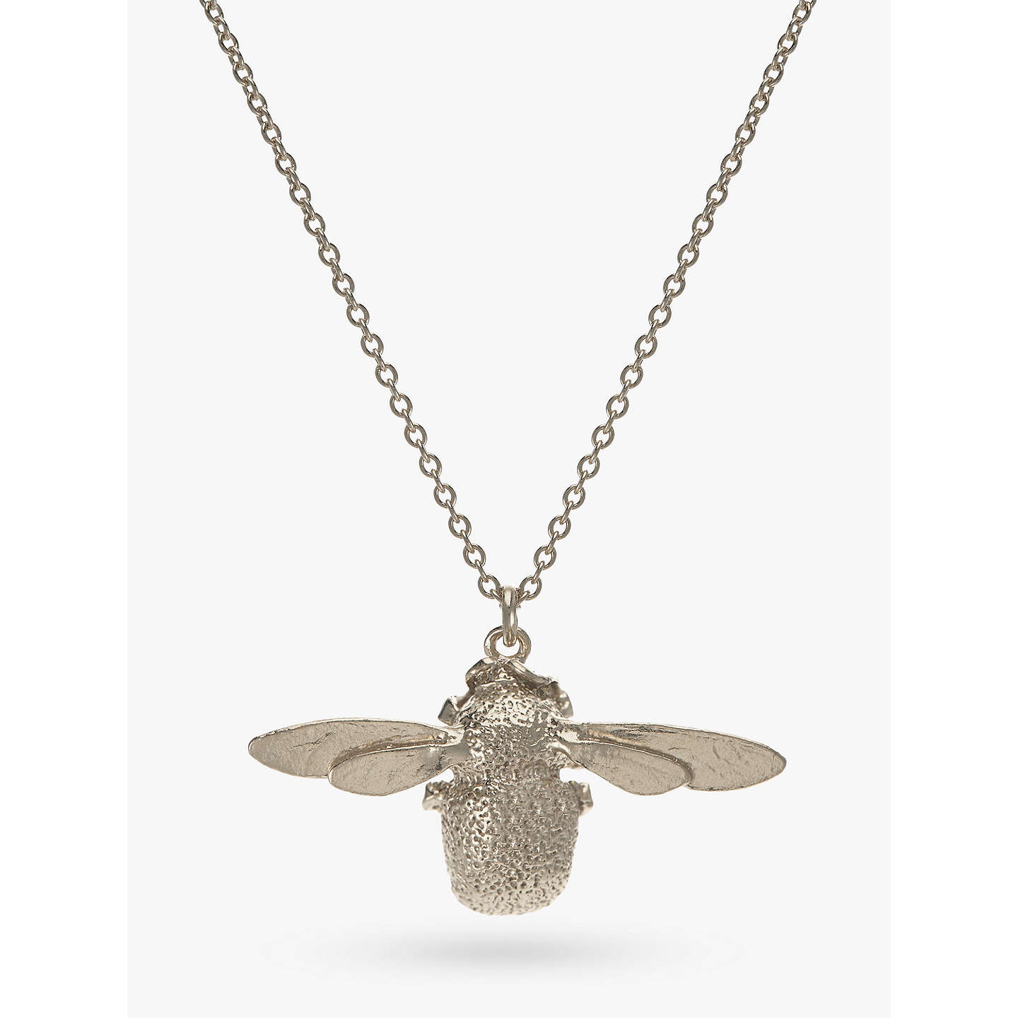 Alex monroe sterling silver bumble bee pendant necklace silver at buyalex monroe sterling silver bumble bee pendant necklace silver online at johnlewis mozeypictures Images