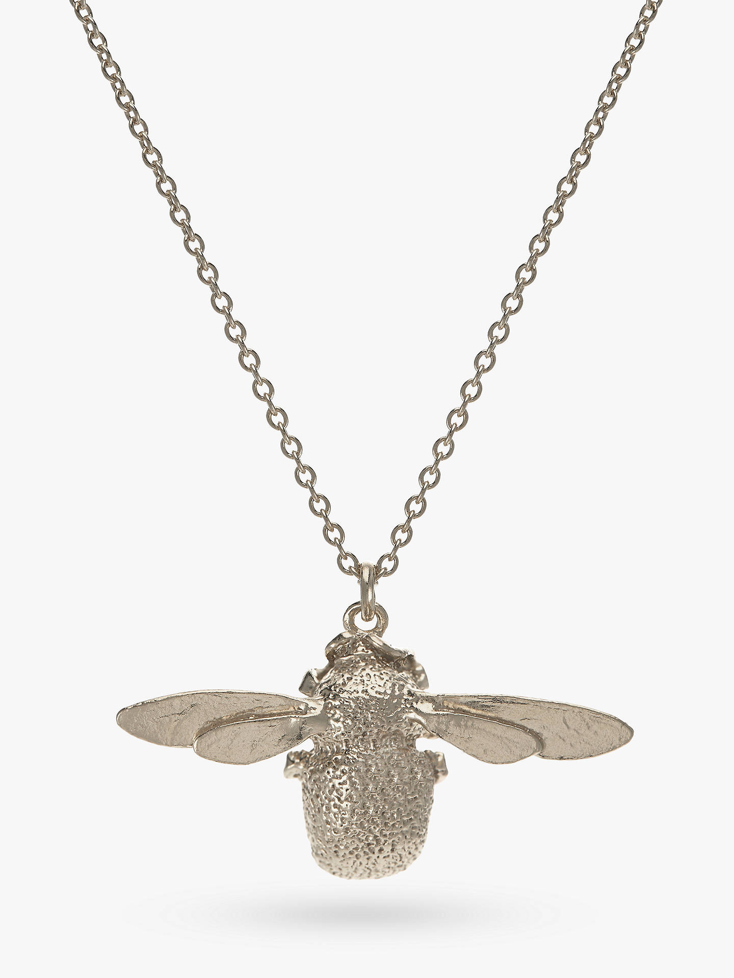 50b3b877b Alex Monroe Sterling Silver Bumble Bee Pendant Necklace, Silver at ...