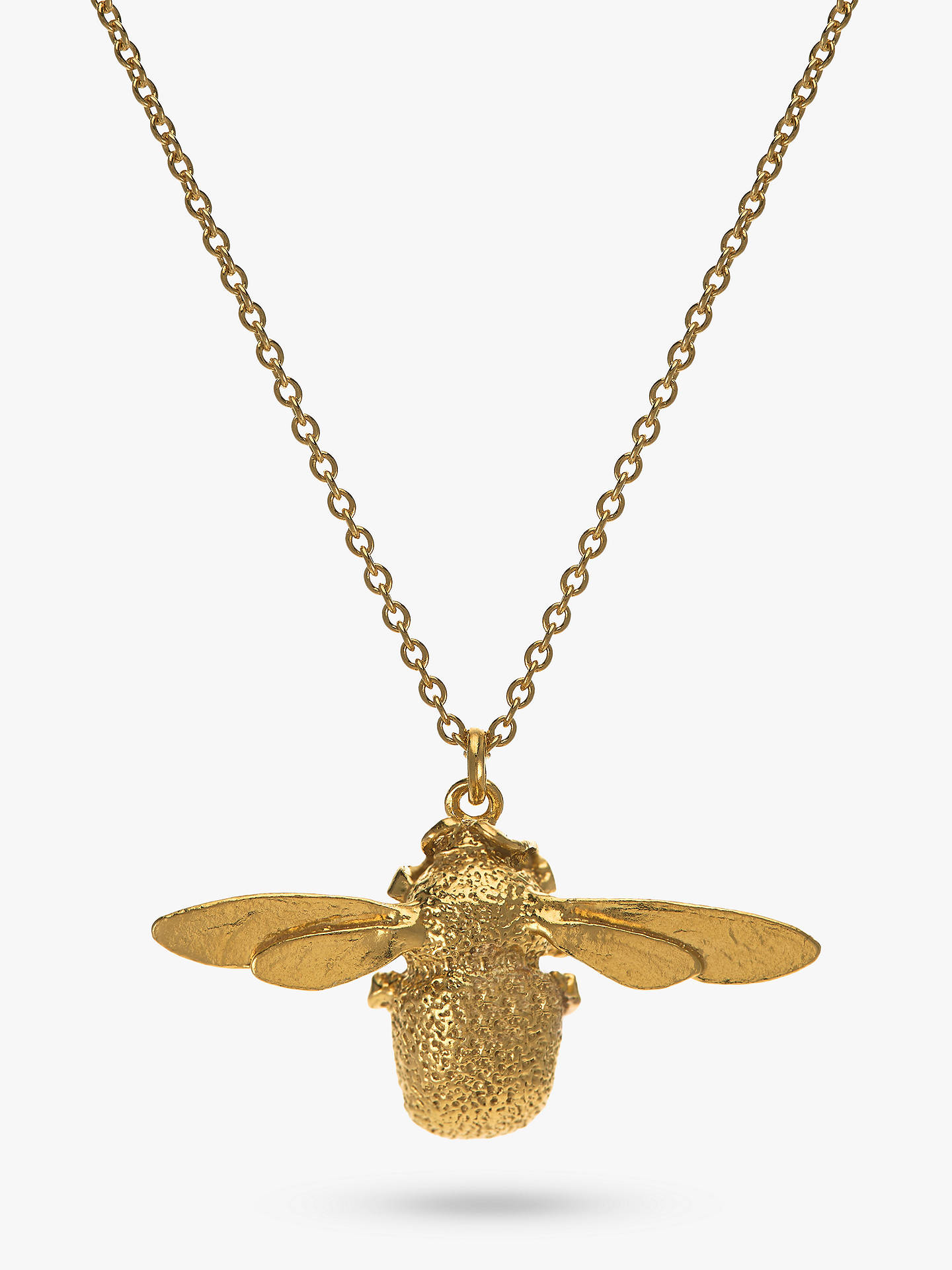 BuyAlex Monroe 22ct Gold Vermeil Bumble Bee Pendant Necklace, Gold Online at johnlewis.com