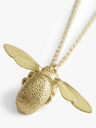 Alex Monroe 22ct Gold Vermeil Bumble Bee Pendant Necklace, Gold