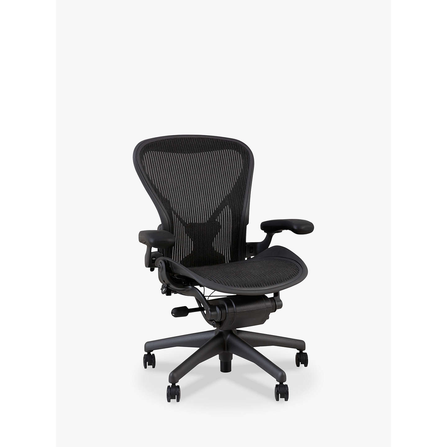 office chair picture. BuyHerman Miller Classic Aeron Office Chair, Size B, Graphite Online At Johnlewis.com Chair Picture