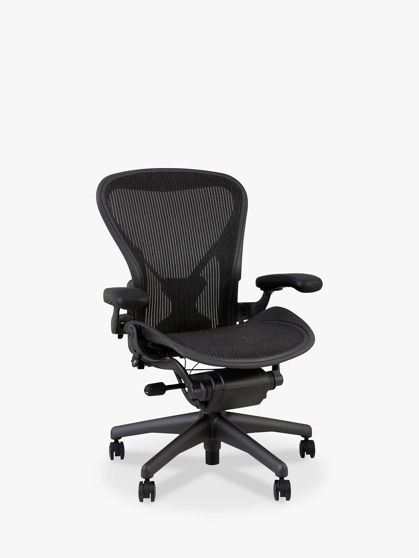 BuyHerman Miller Classic Aeron Office Chair Size B Graphite Online at johnlewis.com ...  sc 1 st  John Lewis : aeron miller chair - Cheerinfomania.Com