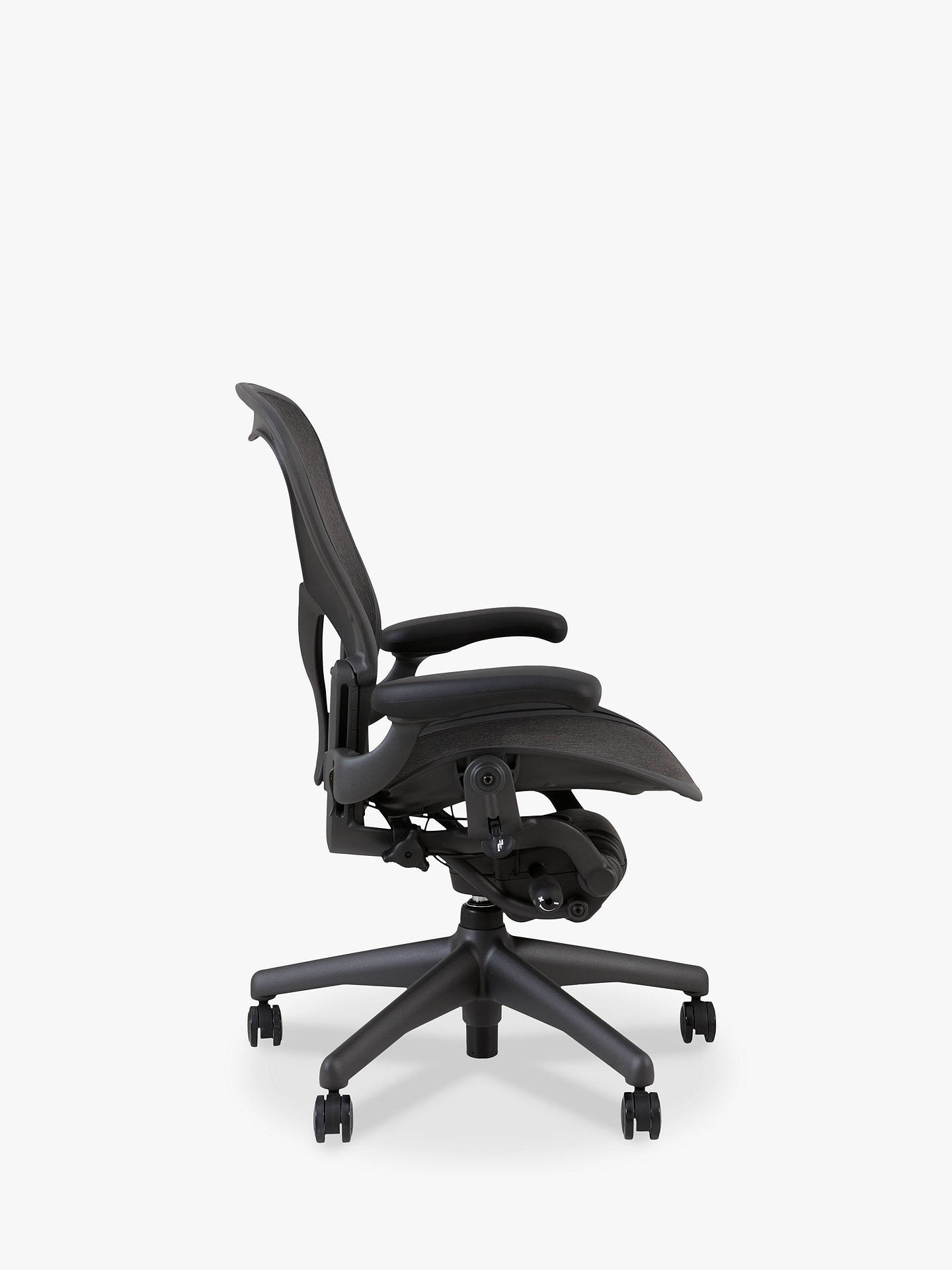 BuyHerman Miller Classic Aeron Office Chair, Size B, Graphite Online at johnlewis.com