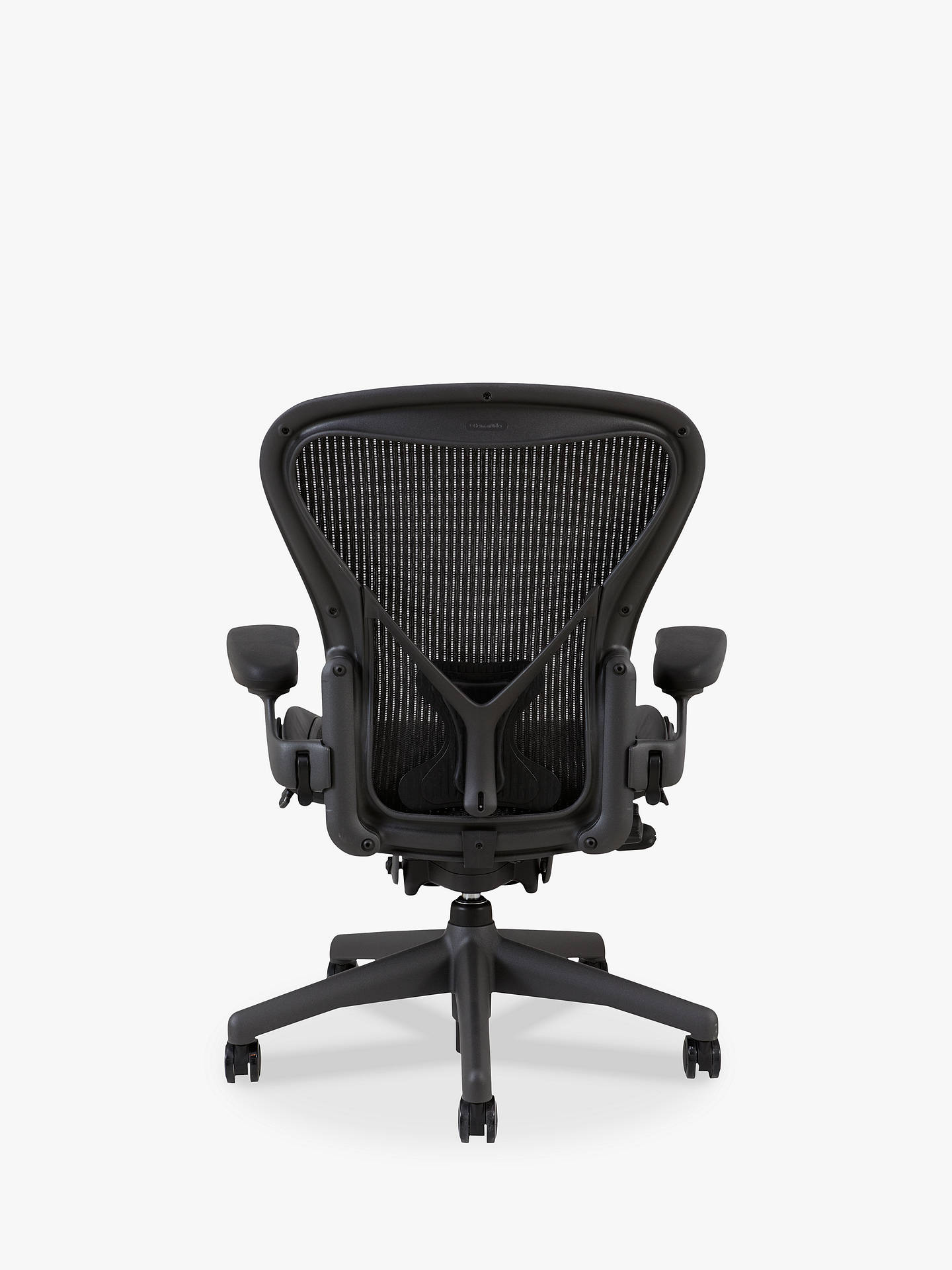 ... BuyHerman Miller Classic Aeron Office Chair, Size B, Graphite Online At  Johnlewis.com ...