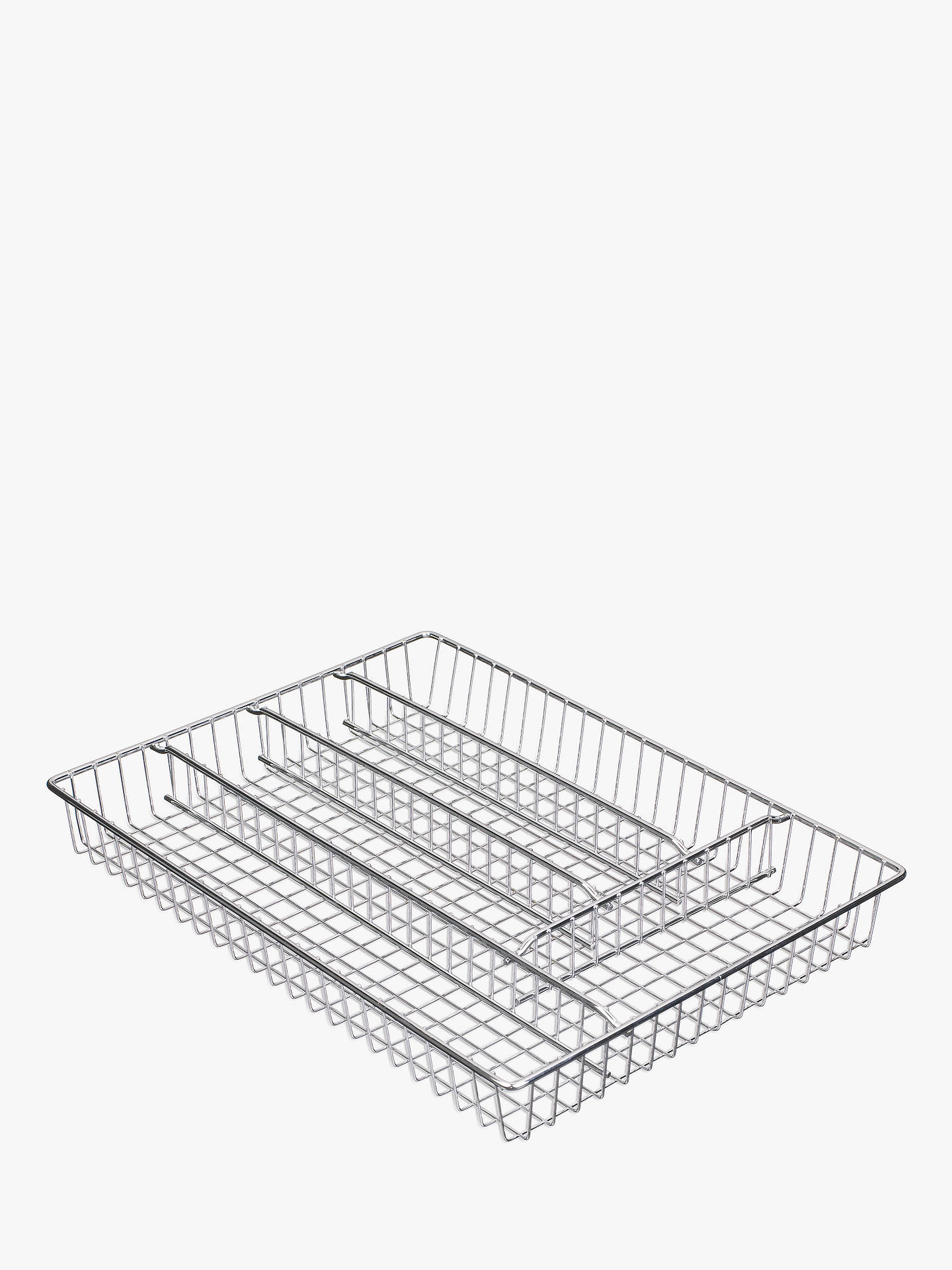 Buy John Lewis & Partners Cutlery Tray, Chrome Online at johnlewis.com