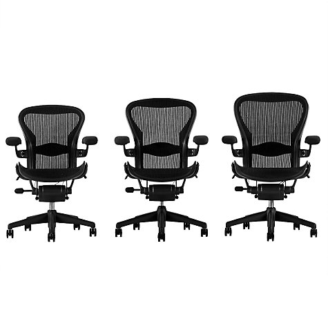 Buy Herman Miller Aeron Office Chair, Size B, Graphite | John Lewis