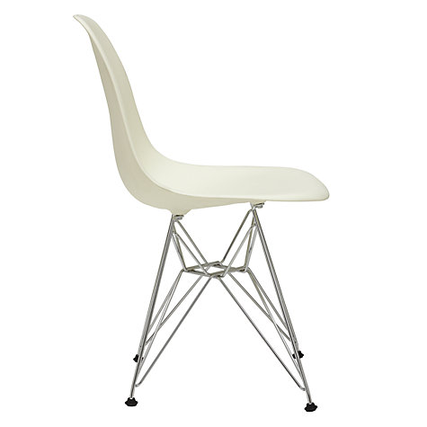 Buy Vitra Eames DSR Side Chair, Cream / Chrome Online at johnlewis.com