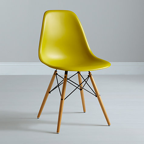 Buy Vitra Eames DSW Side Chair, Mauve Grey Online at johnlewis.com