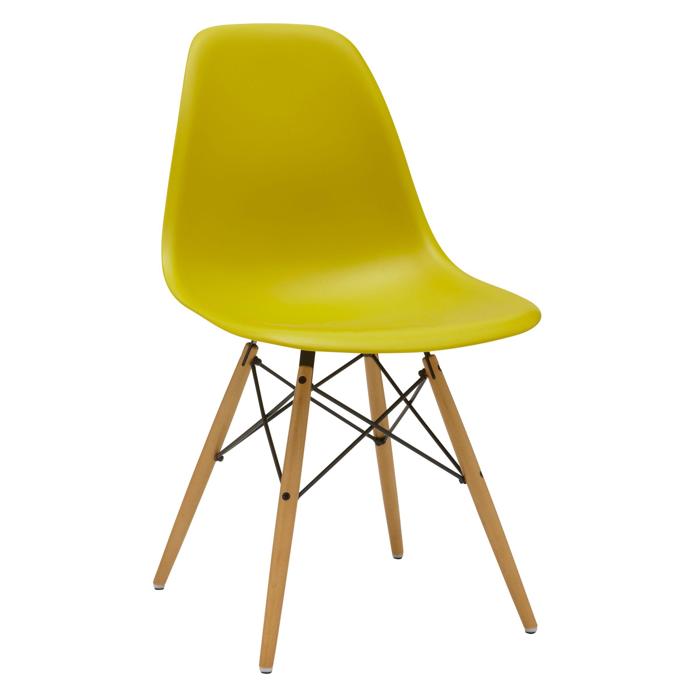 Vitra Vitra Eames DSW Side Chair, Light Maple Leg
